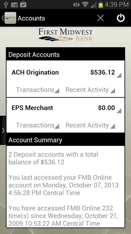 FMB Dexter Mobile Banking - screenshot