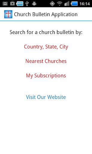 Church Bulletin Application