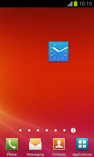 Big Blue Clock +Alarm Widget