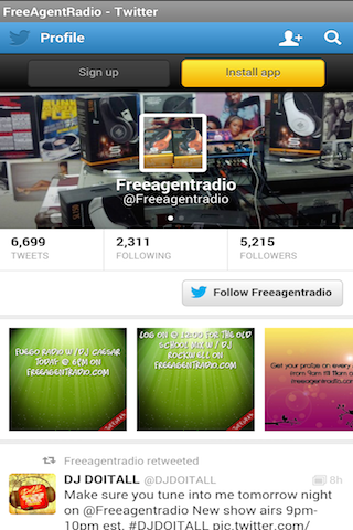 FreeAgentRadio- screenshot