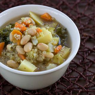 Quinoa, White Bean And Kale Stew.