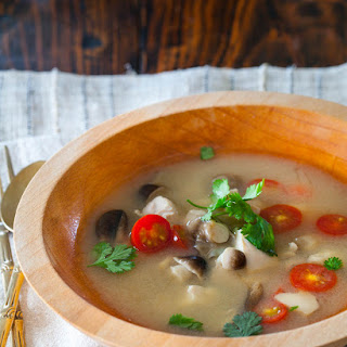 Thai Hot and Sour Chicken Soup.