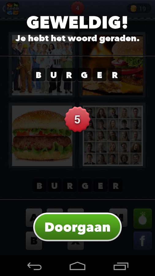 4 Plaatjes 1 Woord - screenshot