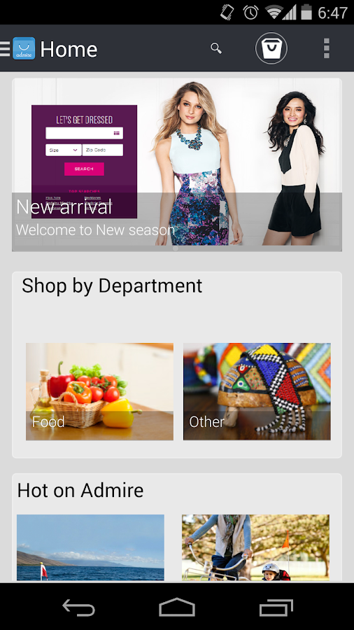 Admire Mobile eCommerce- screenshot