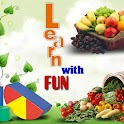 Fruit shape color veg for kids logo