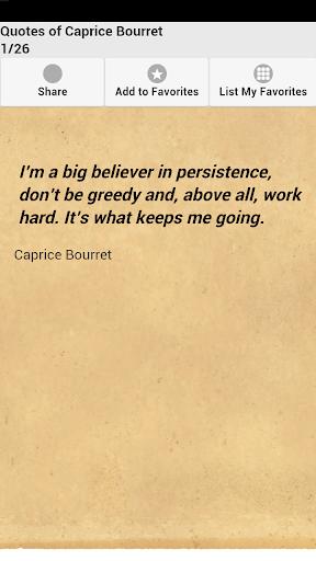 Quotes of Caprice Bourret