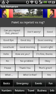Talk Romanian (Free) screenshot 0