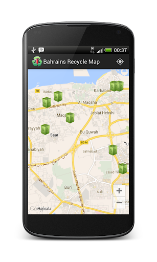 Bahrain's Recycle Map