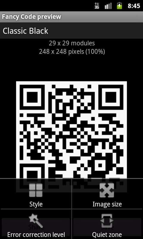 Fancy QR Code - screenshot