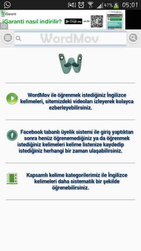WordMov - İngilizce Sözlük