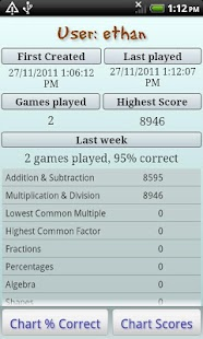 Maths Bug, mental maths games - screenshot thumbnail