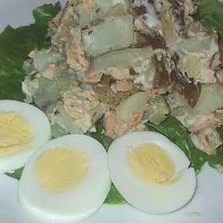Russian Salmon and Potato Salad.