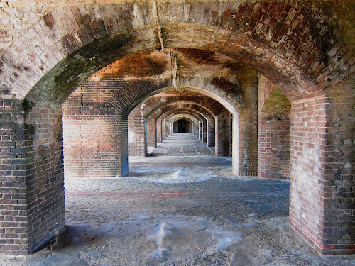 archs of fort Jefferson by Jay Anderson - Buildings & Architecture Decaying & Abandoned ( canon, old, dry, arch, sea, repete, architecture, fort, island, arches, bricks, buiding, jeffson, abandoned,  )