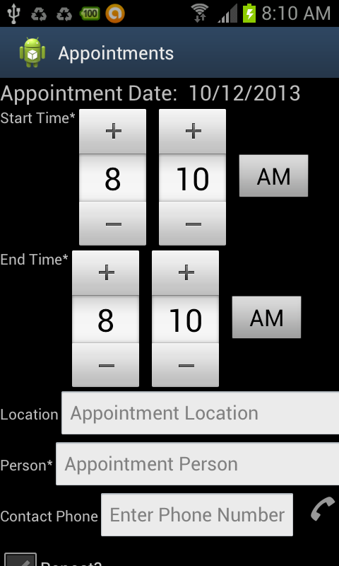 Foster Parent Appt Assist ICS- screenshot