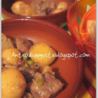 New Potatoes with Beef Stew.