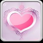 Rosa Herzen Hintergrundbilder icon