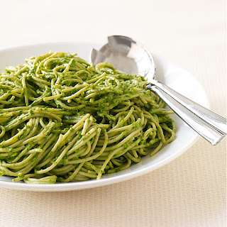 Pasta with Creamy Spinach Pesto.