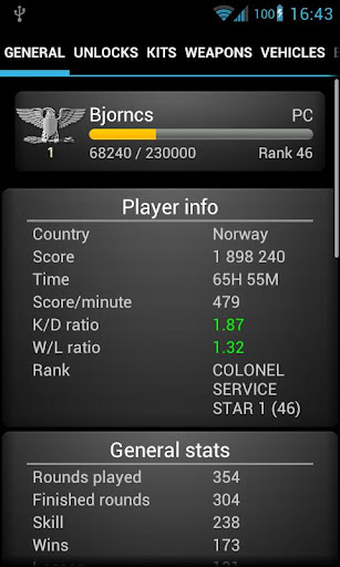 Battlefield 3 stats premium apk