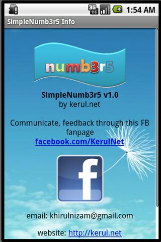 Numbers Flashcard- screenshot
