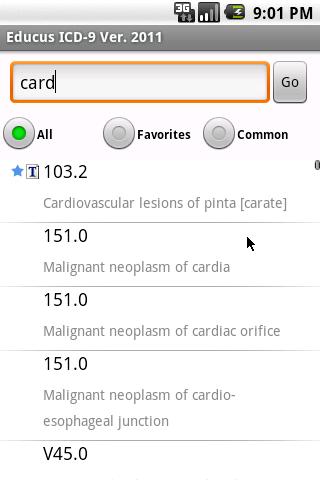 Educus ICD-9 Codes Ver. 2011- screenshot