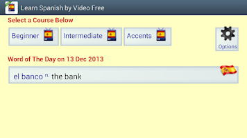 Screenshot of Learn Spanish by Video Free
