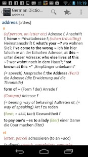 Collins German Dictionary CU T - screenshot thumbnail