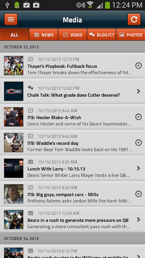 Chicago Bears Official App - screenshot