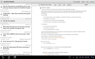Screenshot of Hackful Europe Reader