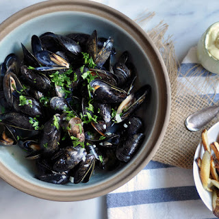 Belgian Beer-Steamed Mussels.