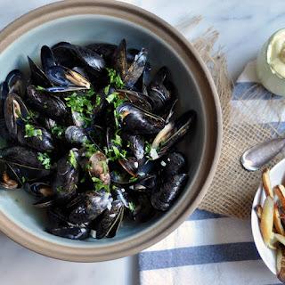 Belgian Beer-Steamed Mussels.