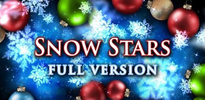 Скачать Snow Stars full новогодние живые обои