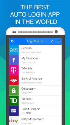 LoginBox fast login autofill - screenshot