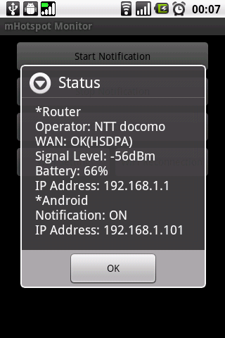 mHotspot Monitor - screenshot