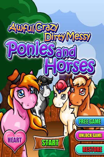 瘋狂的骯髒的小馬和馬