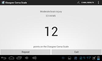 Screenshot of Glasgow Coma Scale PRO