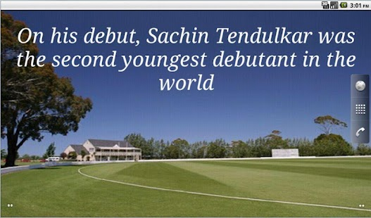 Sachin Facts Live Wallpaper- screenshot thumbnail