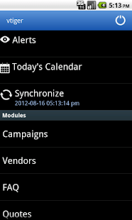 vtiger CRM Mobile - screenshot thumbnail