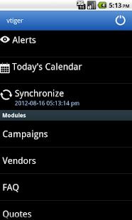 Vtiger- screenshot thumbnail