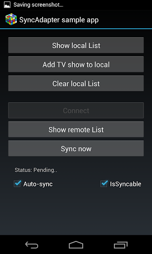 Sync Adapter Sample App