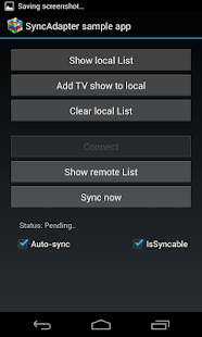 Sync Adapter Sample App- screenshot thumbnail