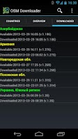 Screenshot of OSM Downloader