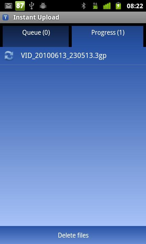 Instant Upload - screenshot