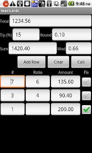Tip and Split Calculator- screenshot thumbnail
