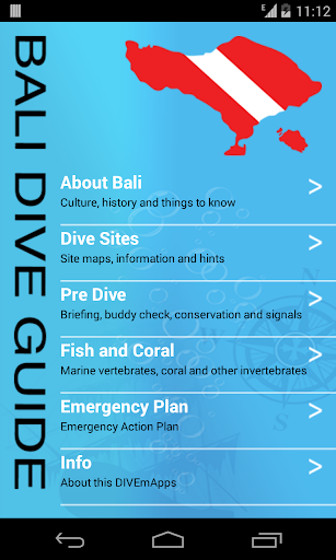 DIVEmAppsバリ島ダイビングガイド