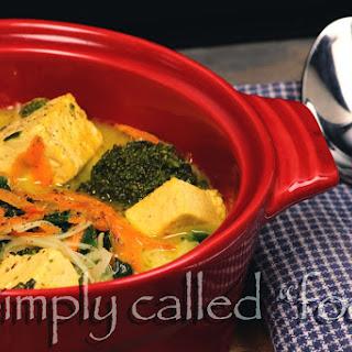 Curry Coconut Cream Soup.