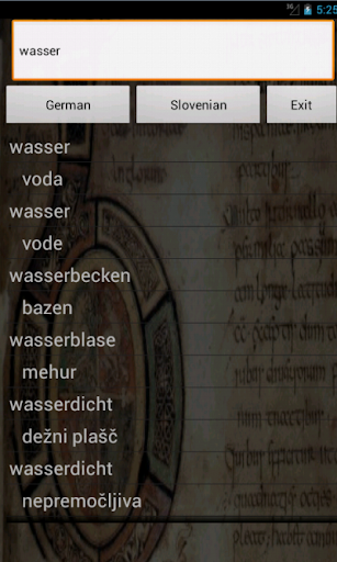 German Slovenian Dictionary