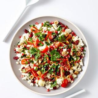 Raw Cauliflower and Pomegranate Salad