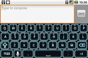 Screenshot of Glow Legacy Keyboard Skin