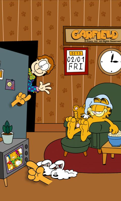 Home Sweet Garfield Live WP - screenshot