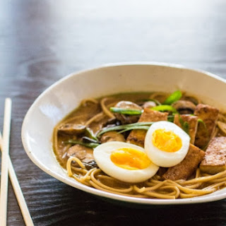 Vegetarian Ramen Noodle Bowl.